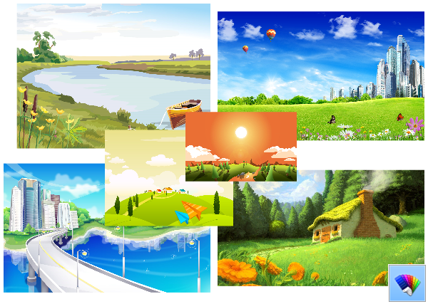 Vector Backgrounds theme for Windows 10 and Windows 8