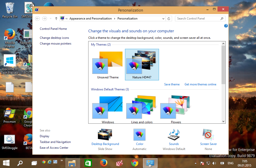 Install desktop theme for all users in Windows 10, Windows ...