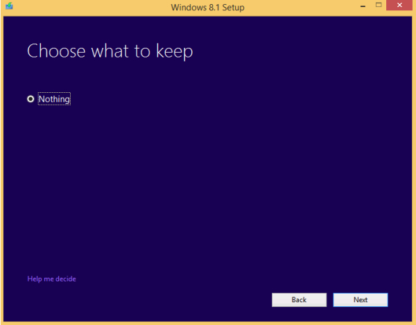 windows 8.1 eval no upgrade