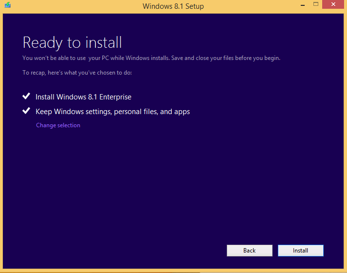 how to change windows 8.1 enterprise to home edition