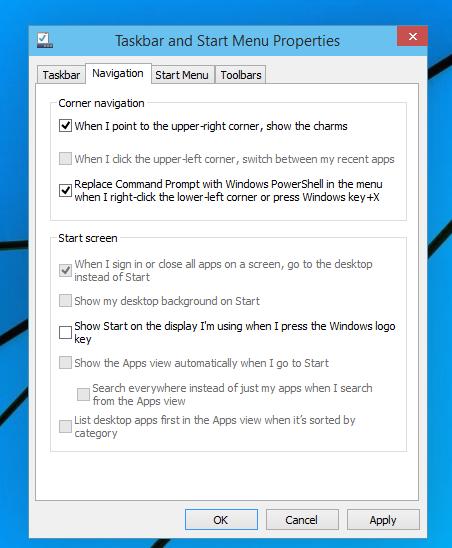 Windows 10 powershell in winx menu