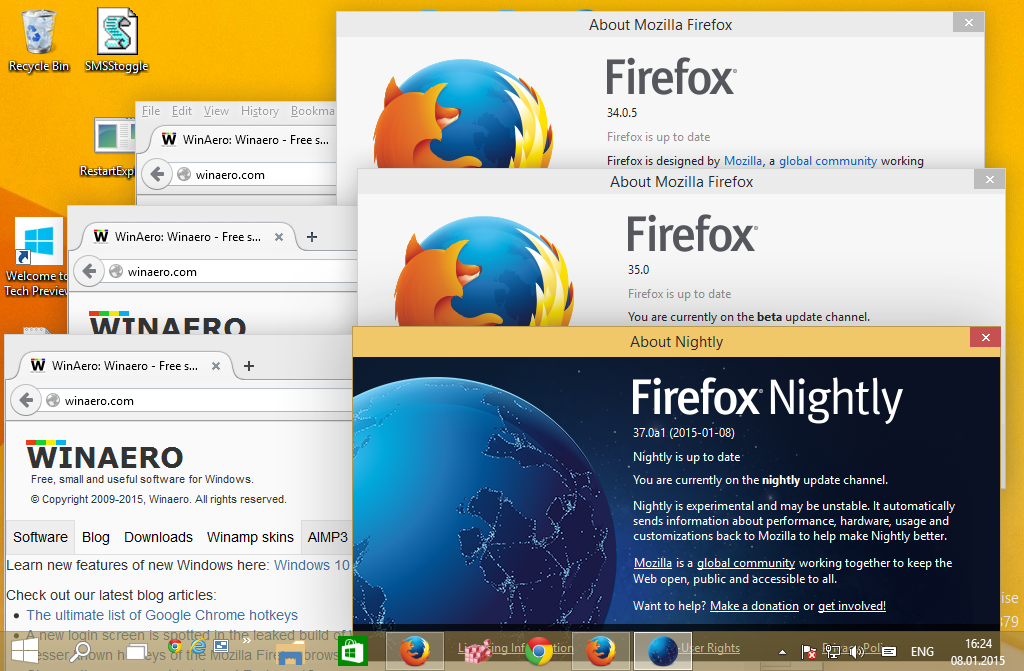 Firefox 67: Individual Profiles for Simultaneously Installed