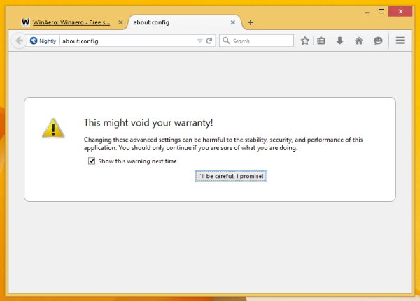 firefox nightly about config