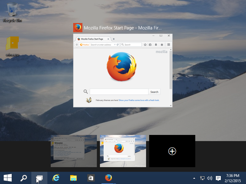 Open new instance of running app in another Desktop in