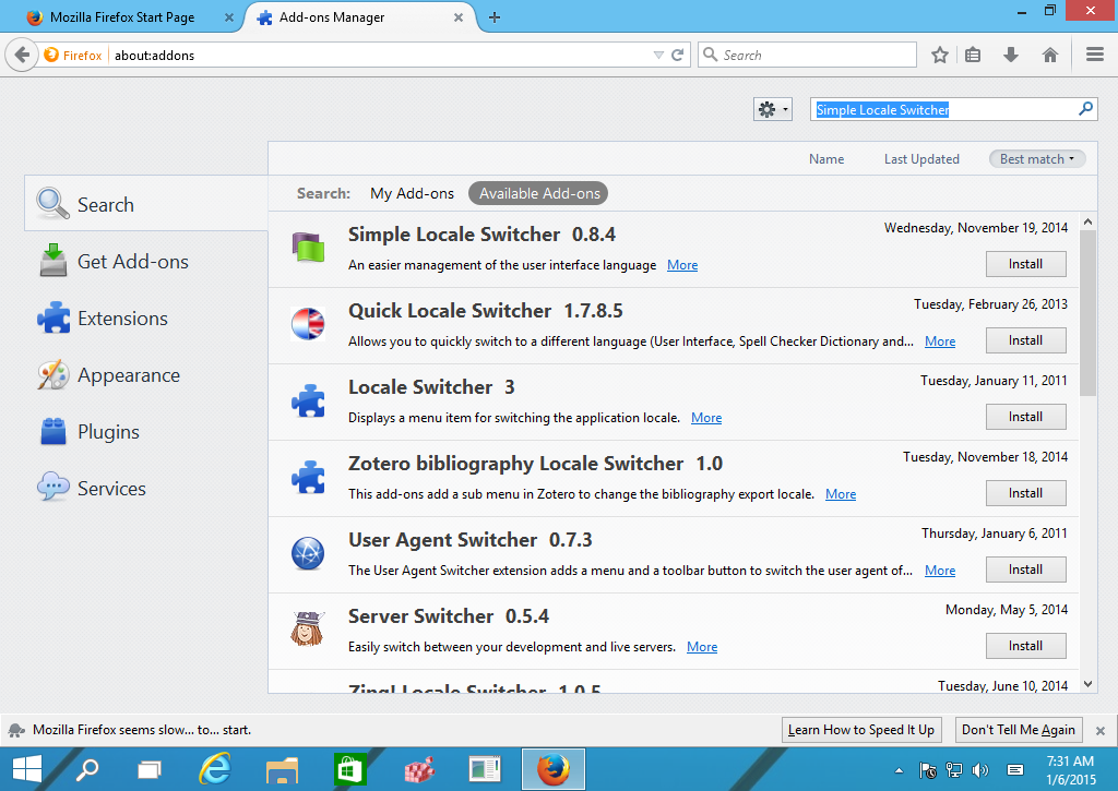 How to switch Firefox display language on the fly
