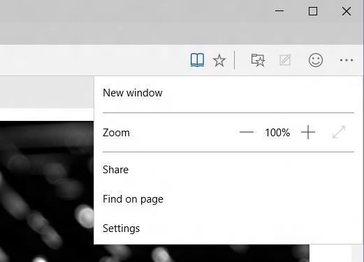 Spartan browser menu