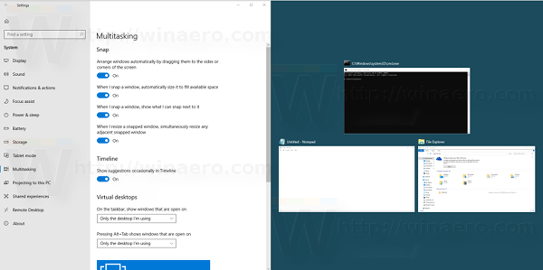 Aero Snap In Windows 10 In Action