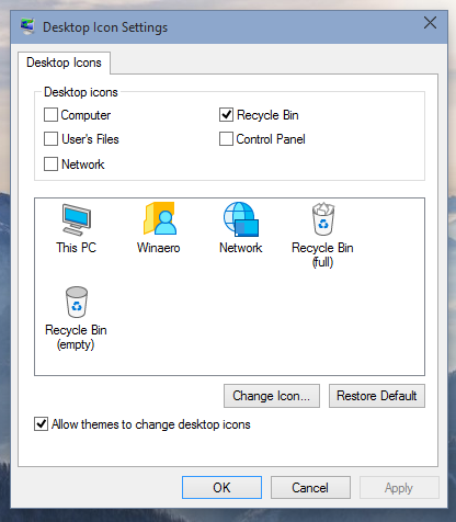 Get Windows 8 icons back in Windows 10