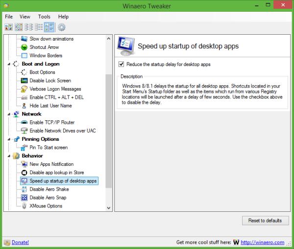 Speedup Apps Startup-Winaero Tweaker