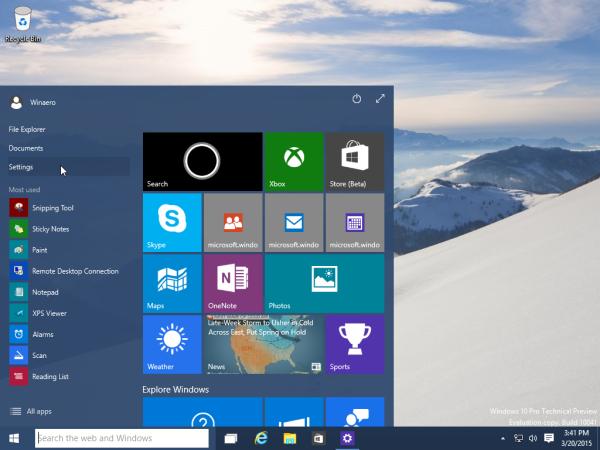 Windows 10 Open Settings App