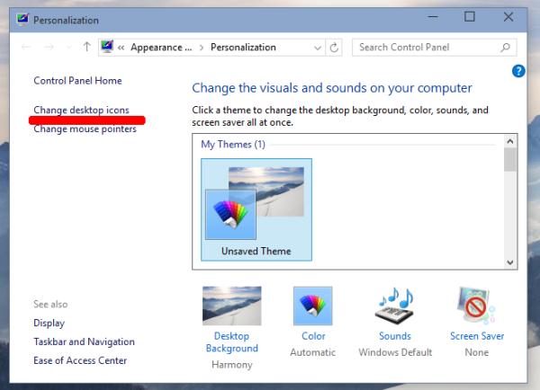 personalize window