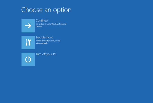 windows 10 advanced startup options