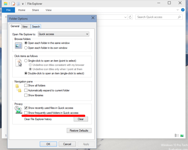 windows 10 remove frequent folders from quick access