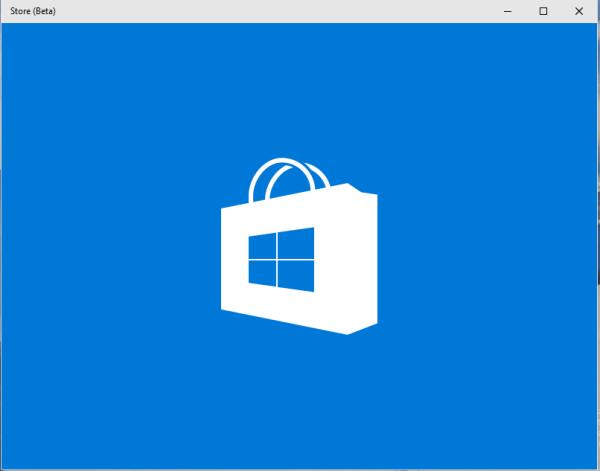 Store blue splash screen
