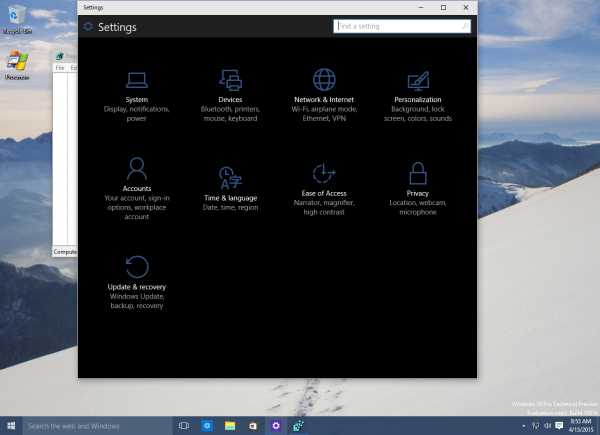 Windows 10 Dark System Theme
