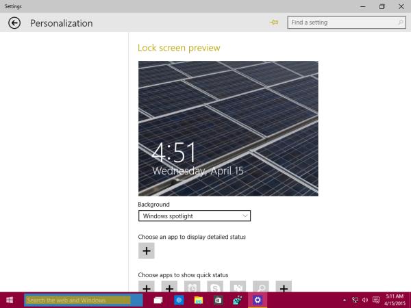Windows 10 enable windows spotlight
