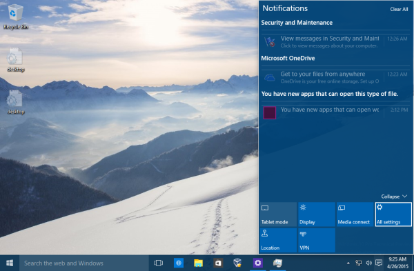 Windows 10 set notifications color