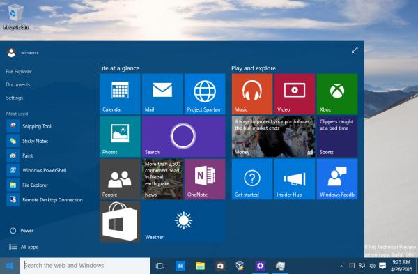 Windows 10 set start menu color