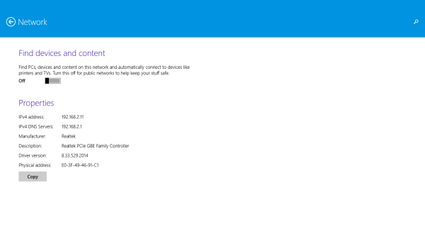 Windows 8.1 find devices and content