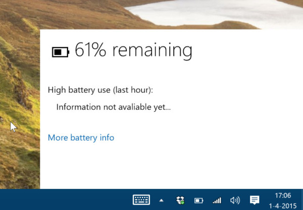 new battery indicator