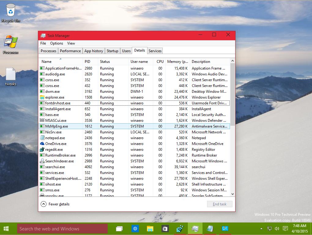 how to change taskbar colour windows 10