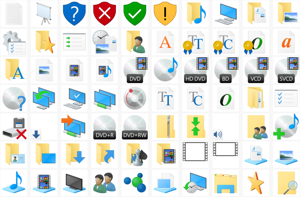 Download vistavg icon pack to get windows vista icons in windows.