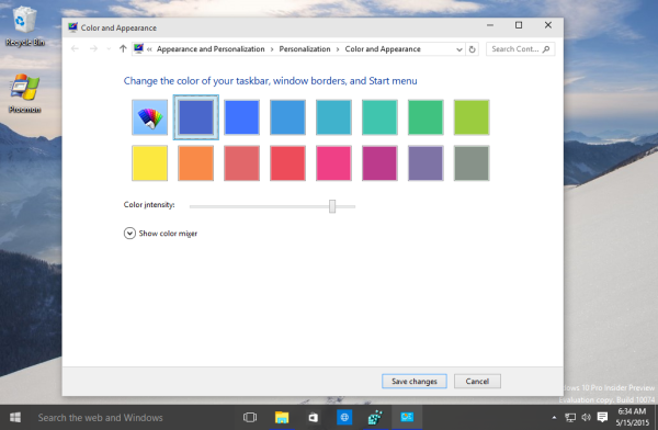 Windows 10 classic appearance colors