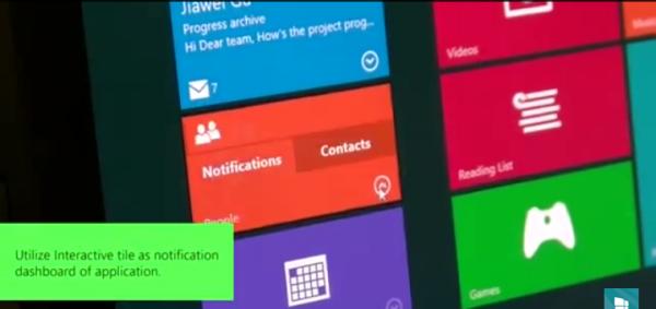 Windows 10 interactive tiles