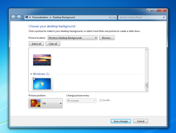 desktop background opened directly
