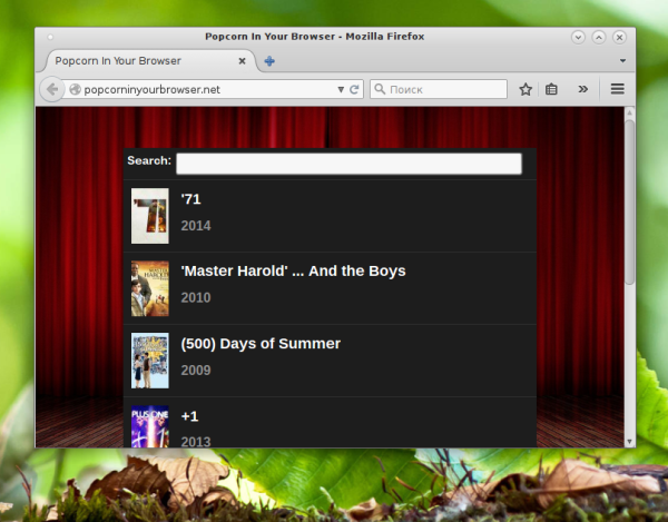 popcorn in the browser