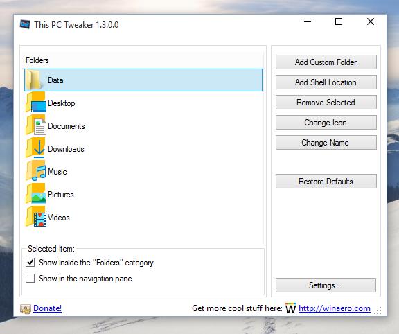 windows 10 this pc custom folder