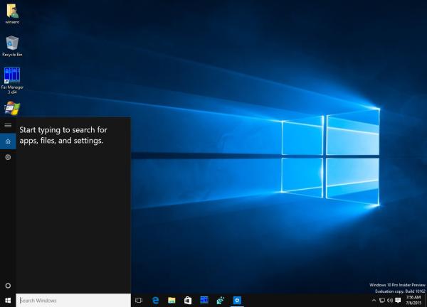 Cortana pane