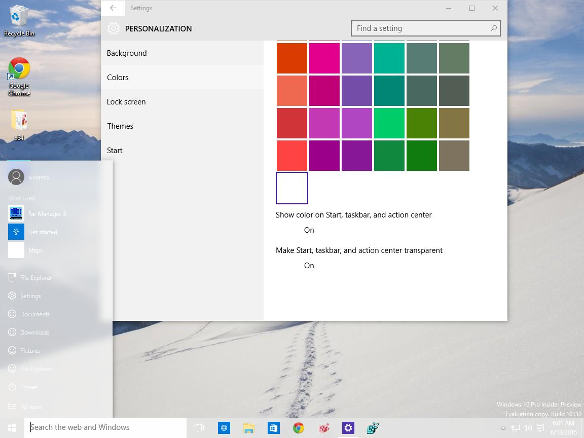 Add a custom color for taskbar to windows 10 settings app for How to design windows