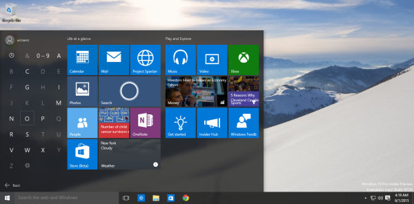windows 10 alphabet navigation start menu