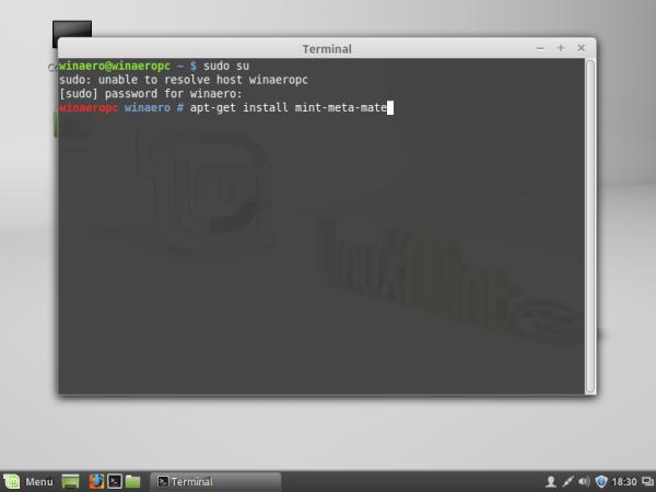 linux mint install mate apt