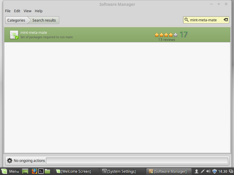 linux mint install mate software manager