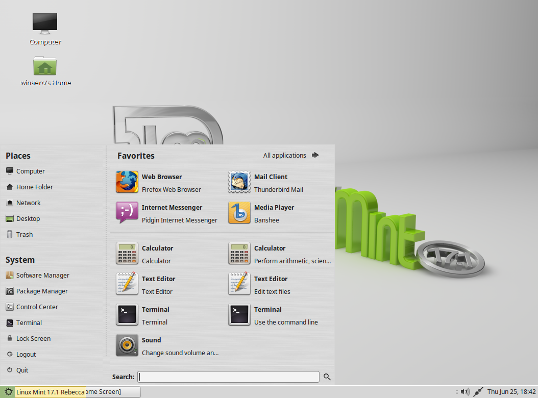 Linux Mint Running Mate
