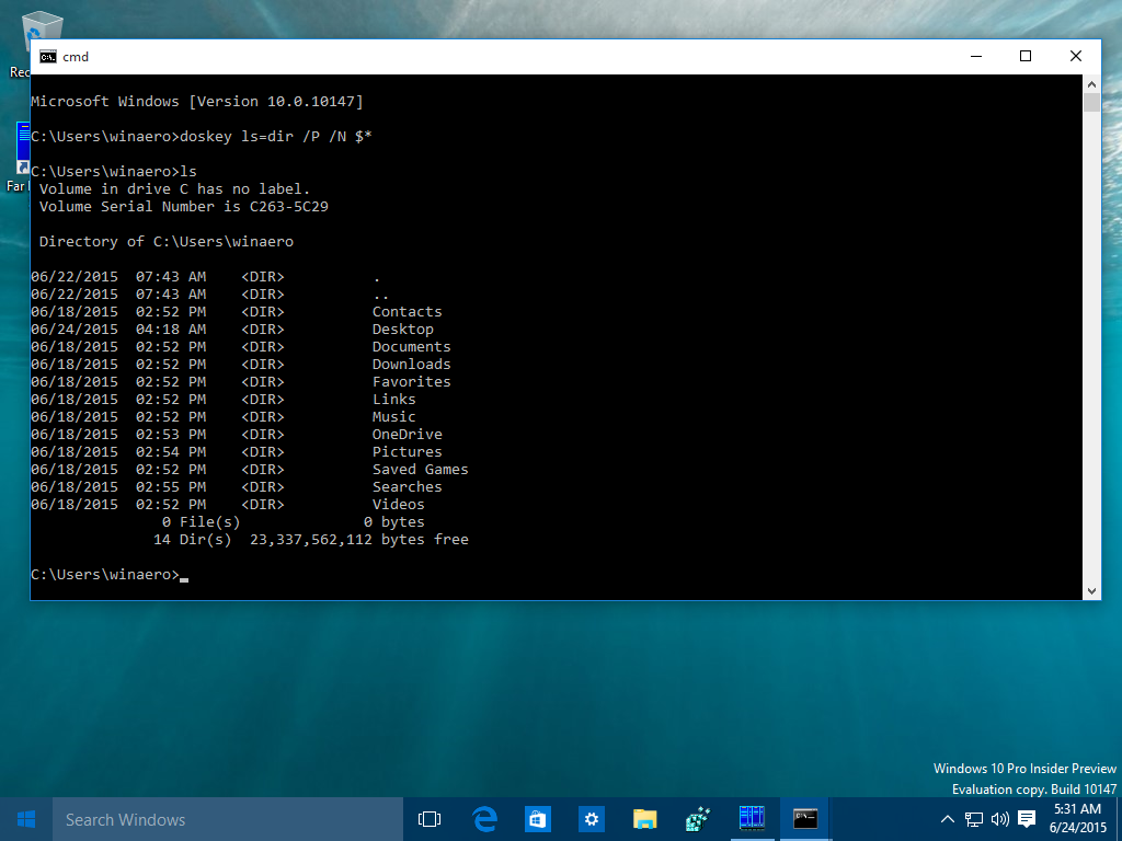 WinaeroHow to set aliases for the command prompt in Windows