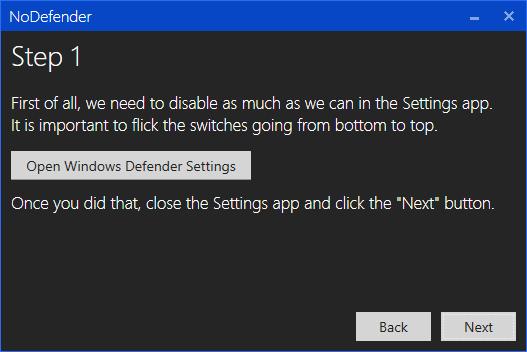 nodefender step 1