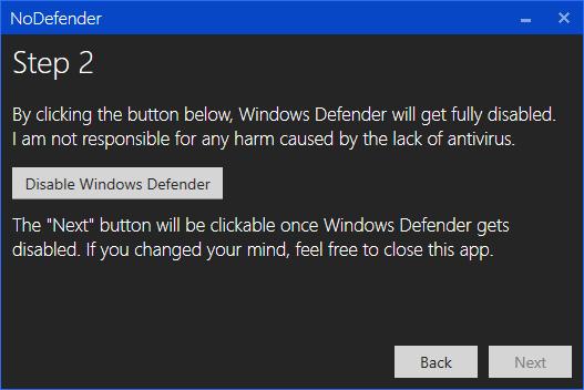 nodefender step 2