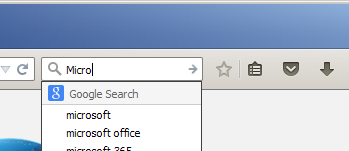 search field text suggestions small