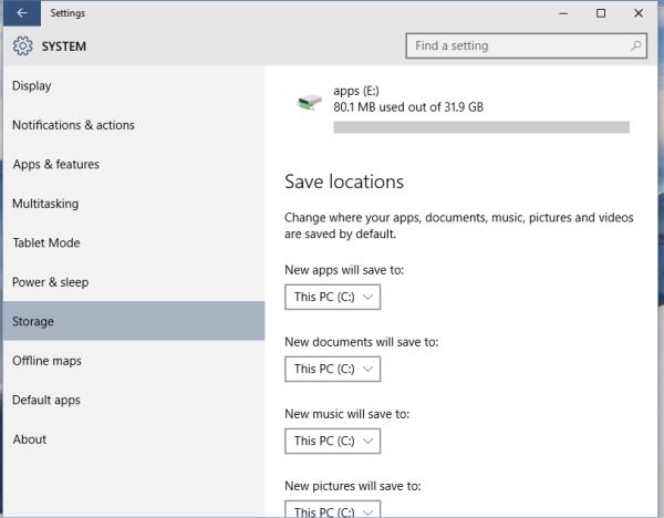 windows 10 apps default location