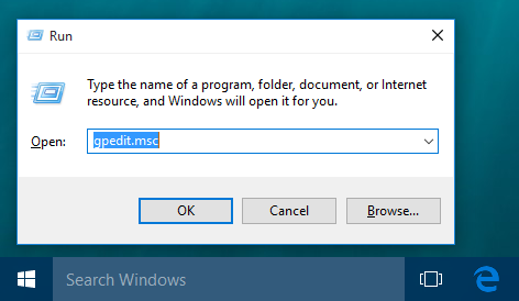 windows 10 gpedit