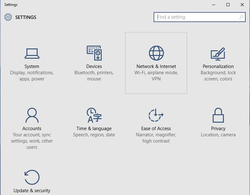 public to private network windows 10 regedit