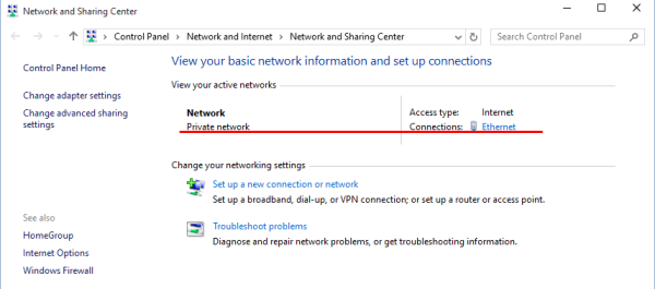 windows 10 network and sharing