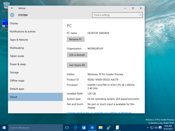 windows 10 settings about
