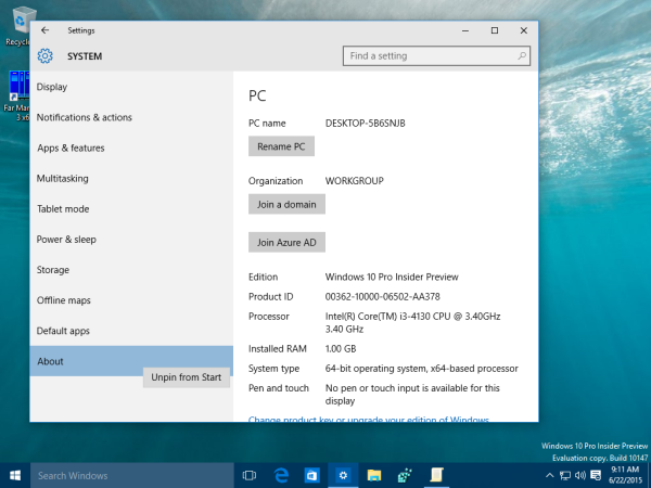 windows 10 settings unpin from start 3
