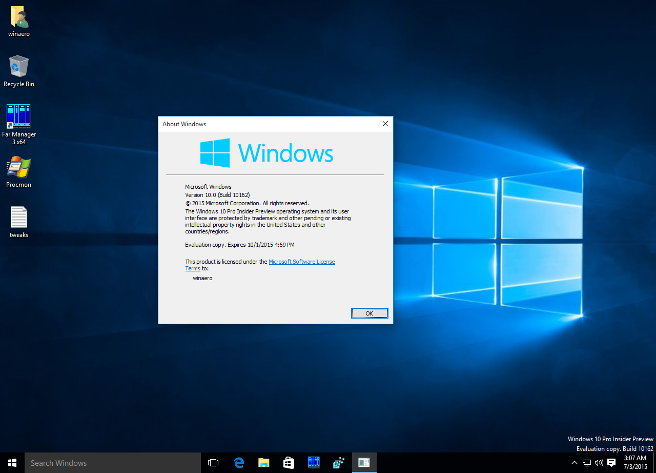 Official ISO images for Windows 10 build 10162 released