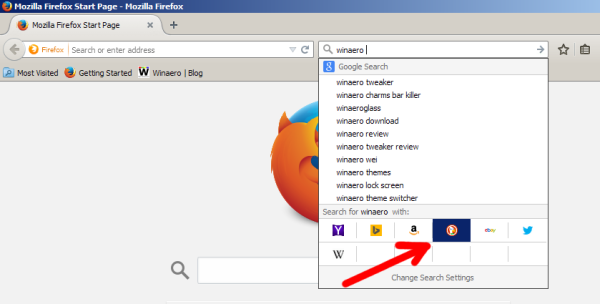 Firefox change search engine hotkeys 05