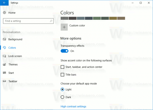 Personalization Colors More Options